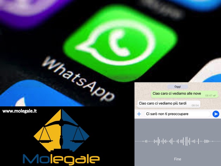 WhatsApp come prova in processo