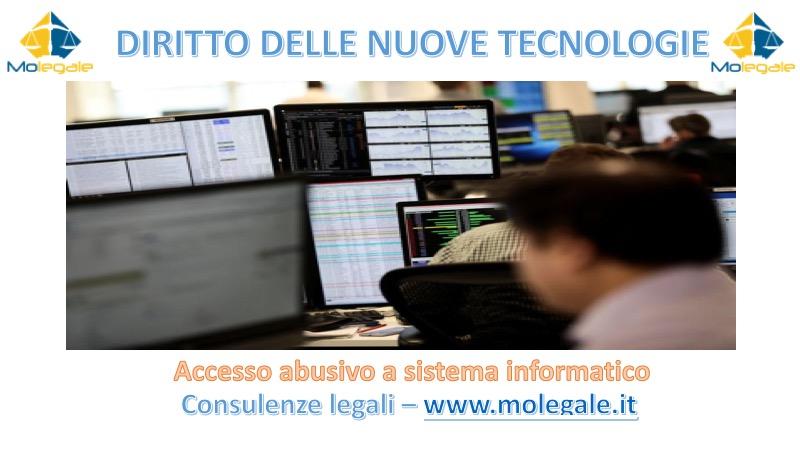 accesso abusivo a sistema informatico avvocato