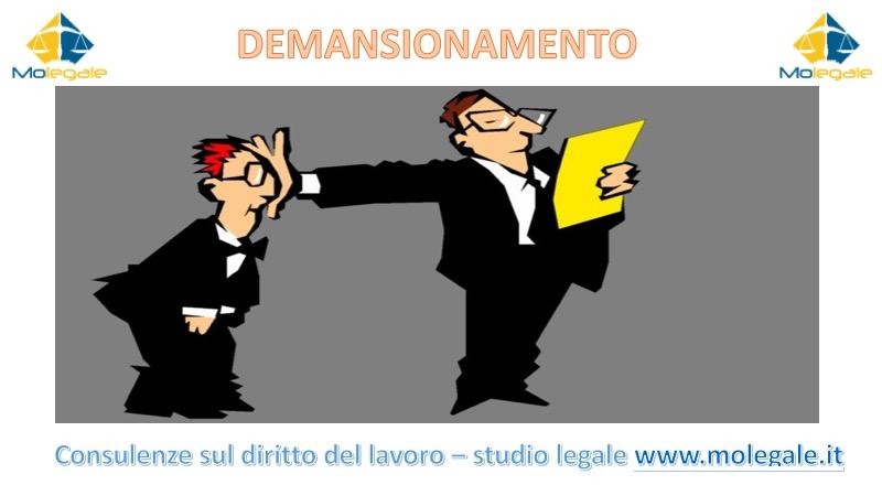 demansionamento diritto del lavoro avvocato a Pistoia